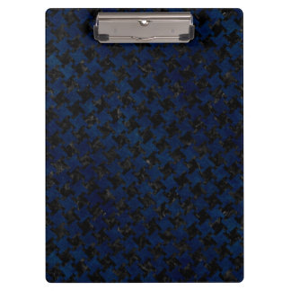 HOUNDSTOOTH2 BLACK MARBLE & BLUE GRUNGE CLIPBOARD