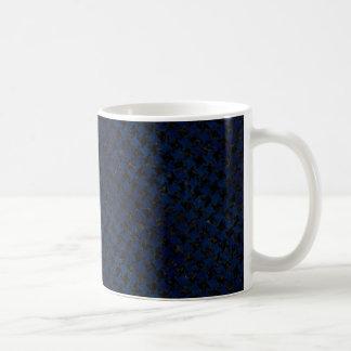 HOUNDSTOOTH2 BLACK MARBLE & BLUE GRUNGE COFFEE MUG