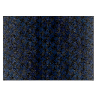 HOUNDSTOOTH2 BLACK MARBLE & BLUE GRUNGE CUTTING BOARD