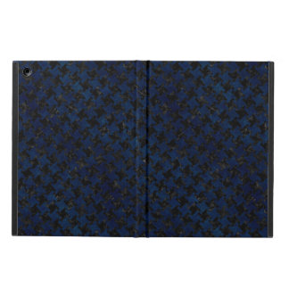 HOUNDSTOOTH2 BLACK MARBLE & BLUE GRUNGE iPad AIR COVER