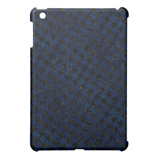 HOUNDSTOOTH2 BLACK MARBLE & BLUE GRUNGE iPad MINI CASES