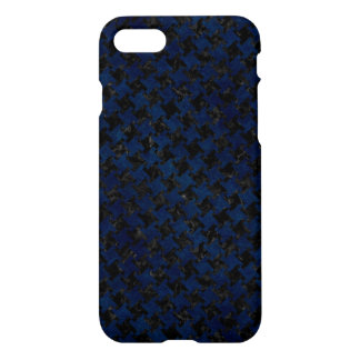 HOUNDSTOOTH2 BLACK MARBLE & BLUE GRUNGE iPhone 8/7 CASE