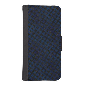 HOUNDSTOOTH2 BLACK MARBLE & BLUE GRUNGE iPhone SE/5/5s WALLET CASE