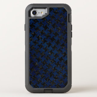 HOUNDSTOOTH2 BLACK MARBLE & BLUE GRUNGE OtterBox DEFENDER iPhone 8/7 CASE