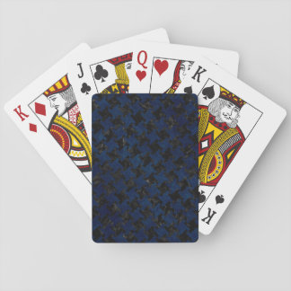 HOUNDSTOOTH2 BLACK MARBLE & BLUE GRUNGE PLAYING CARDS