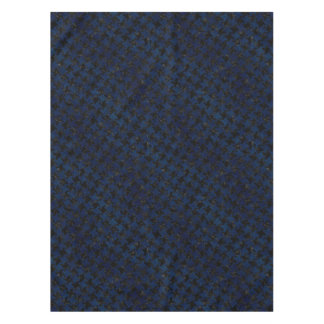 HOUNDSTOOTH2 BLACK MARBLE & BLUE GRUNGE TABLECLOTH