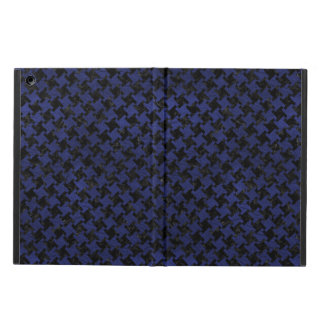HOUNDSTOOTH2 BLACK MARBLE & BLUE LEATHER CASE FOR iPad AIR
