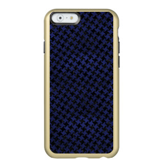 HOUNDSTOOTH2 BLACK MARBLE & BLUE LEATHER INCIPIO FEATHER® SHINE iPhone 6 CASE