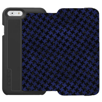 HOUNDSTOOTH2 BLACK MARBLE & BLUE LEATHER INCIPIO WATSON™ iPhone 6 WALLET CASE