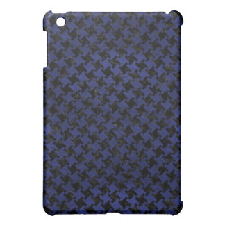 HOUNDSTOOTH2 BLACK MARBLE & BLUE LEATHER iPad MINI COVERS