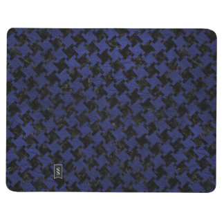 HOUNDSTOOTH2 BLACK MARBLE & BLUE LEATHER JOURNAL
