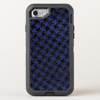 HOUNDSTOOTH2 BLACK MARBLE & BLUE LEATHER OtterBox DEFENDER iPhone 8/7 CASE