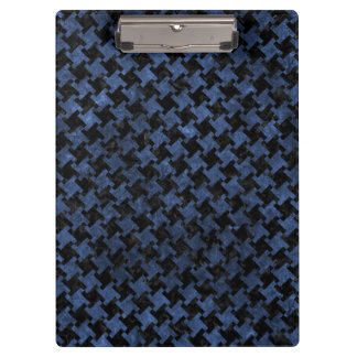 HOUNDSTOOTH2 BLACK MARBLE & BLUE STONE CLIPBOARD