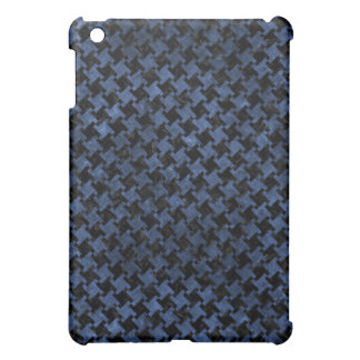 HOUNDSTOOTH2 BLACK MARBLE & BLUE STONE iPad MINI COVERS