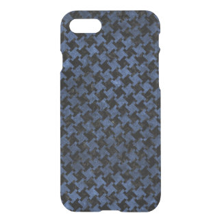 HOUNDSTOOTH2 BLACK MARBLE & BLUE STONE iPhone 8/7 CASE
