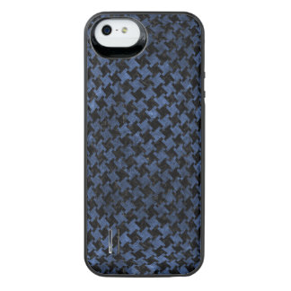 HOUNDSTOOTH2 BLACK MARBLE & BLUE STONE iPhone SE/5/5s BATTERY CASE