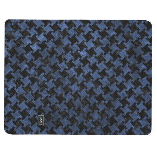HOUNDSTOOTH2 BLACK MARBLE & BLUE STONE JOURNAL