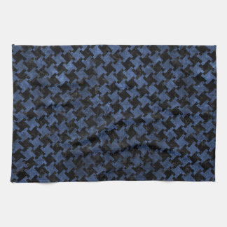 HOUNDSTOOTH2 BLACK MARBLE & BLUE STONE KITCHEN TOWEL