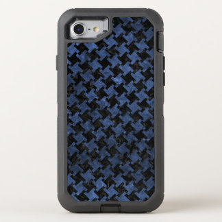 HOUNDSTOOTH2 BLACK MARBLE & BLUE STONE OtterBox DEFENDER iPhone 8/7 CASE