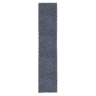 HOUNDSTOOTH2 BLACK MARBLE & BLUE STONE SHORT TABLE RUNNER