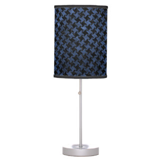 HOUNDSTOOTH2 BLACK MARBLE & BLUE STONE TABLE LAMP