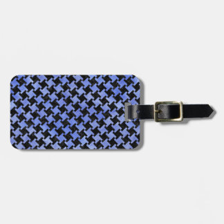 HOUNDSTOOTH2 BLACK MARBLE & BLUE WATERCOLOR BAG TAG