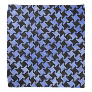 HOUNDSTOOTH2 BLACK MARBLE & BLUE WATERCOLOR BANDANA
