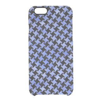 HOUNDSTOOTH2 BLACK MARBLE & BLUE WATERCOLOR CLEAR iPhone 6/6S CASE