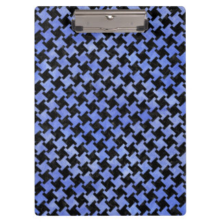 HOUNDSTOOTH2 BLACK MARBLE & BLUE WATERCOLOR CLIPBOARD