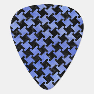 HOUNDSTOOTH2 BLACK MARBLE & BLUE WATERCOLOR GUITAR PICK