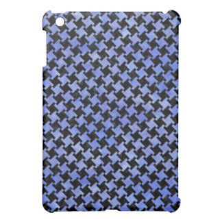 HOUNDSTOOTH2 BLACK MARBLE & BLUE WATERCOLOR iPad MINI CASE