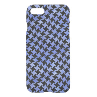 HOUNDSTOOTH2 BLACK MARBLE & BLUE WATERCOLOR iPhone 7 CASE