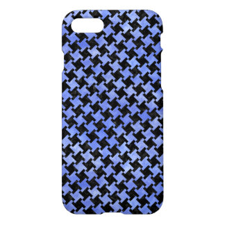 HOUNDSTOOTH2 BLACK MARBLE & BLUE WATERCOLOR iPhone 8/7 CASE