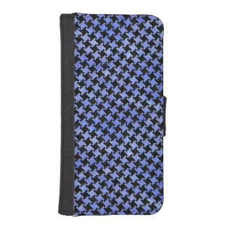 HOUNDSTOOTH2 BLACK MARBLE & BLUE WATERCOLOR iPhone SE/5/5s WALLET CASE