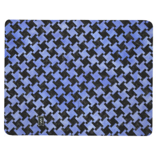 HOUNDSTOOTH2 BLACK MARBLE & BLUE WATERCOLOR JOURNAL