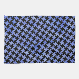 HOUNDSTOOTH2 BLACK MARBLE & BLUE WATERCOLOR KITCHEN TOWEL