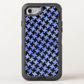 HOUNDSTOOTH2 BLACK MARBLE & BLUE WATERCOLOR OtterBox DEFENDER iPhone 8/7 CASE