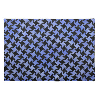HOUNDSTOOTH2 BLACK MARBLE & BLUE WATERCOLOR PLACEMAT