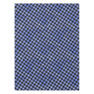 HOUNDSTOOTH2 BLACK MARBLE & BLUE WATERCOLOR TABLECLOTH