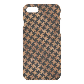 HOUNDSTOOTH2 BLACK MARBLE & BROWN STONE iPhone 8/7 CASE