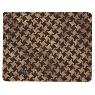 HOUNDSTOOTH2 BLACK MARBLE & BROWN STONE JOURNAL