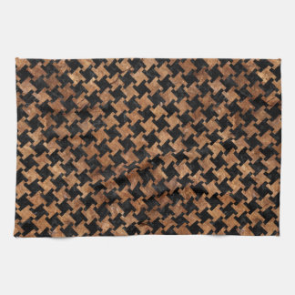 HOUNDSTOOTH2 BLACK MARBLE & BROWN STONE KITCHEN TOWEL