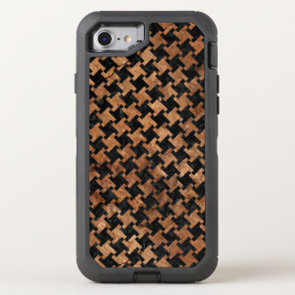 HOUNDSTOOTH2 BLACK MARBLE & BROWN STONE OtterBox DEFENDER iPhone 8/7 CASE