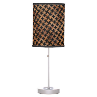 HOUNDSTOOTH2 BLACK MARBLE & BROWN STONE TABLE LAMP
