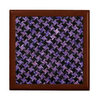 HOUNDSTOOTH2 BLACK MARBLE & PURPLE MARBLE GIFT BOX