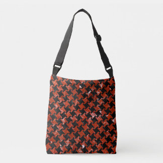 HOUNDSTOOTH2 BLACK MARBLE & RED MARBLE CROSSBODY BAG