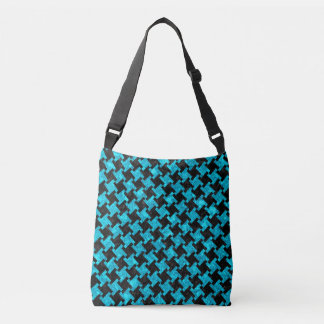 HOUNDSTOOTH2 BLACK MARBLE & TURQUOISE MARBLE CROSSBODY BAG