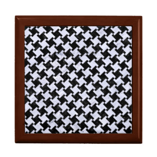 HOUNDSTOOTH2 BLACK MARBLE & WHITE MARBLE GIFT BOX