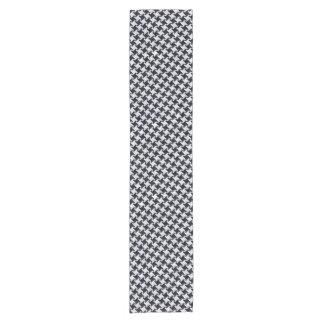 HOUNDSTOOTH2 BLACK MARBLE & WHITE MARBLE SHORT TABLE RUNNER