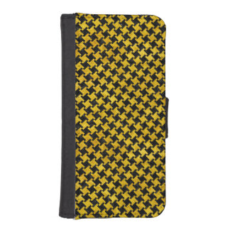 HOUNDSTOOTH2 BLACK MARBLE & YELLOW MARBLE iPhone SE/5/5s WALLET CASE